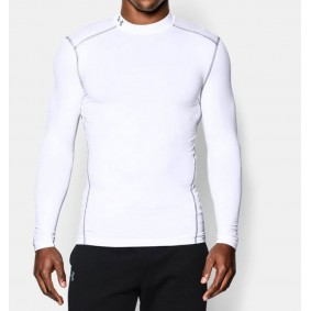 Thermokleding - kopen - Under Armour ColdGear Armour Compression LS – White