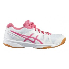 Asics sportschoenen - Asics volleybalschoenen - Indoor sportschoenen - Junior Indoorschoenen - junior volleybalschoenen - Merk sportschoenen - Volleybalschoenen - kopen - Asics Gel-Upcourt Indoor GS Wit/Rose