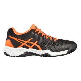 Asics sportschoenen - Tennisschoenen junioren - kopen - Asics Gel-Resolution 7 GS Zwart