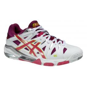 Asics sportschoenen - Asics volleybalschoenen - Dames indoorschoenen - Indoor sportschoenen - Merk sportschoenen - Senior schoenen - Sportschoenen aanbiedingen - Volleybalschoenen - Volleybalschoenen dames - kopen - Asics Gel-Sensei 5 W (Aktie)
