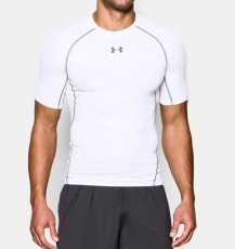 Under Armour HeatGear Armour Compression SS - White online kopen